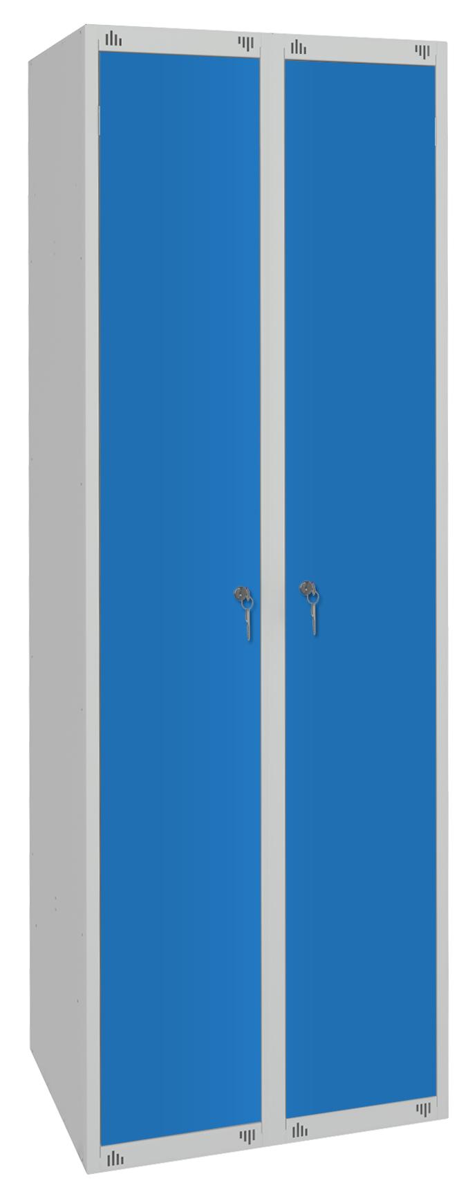 Шкаф для одежды ШР22 с выдвижной скамьей сварной